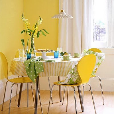 Yellow Dining Room - House to Home