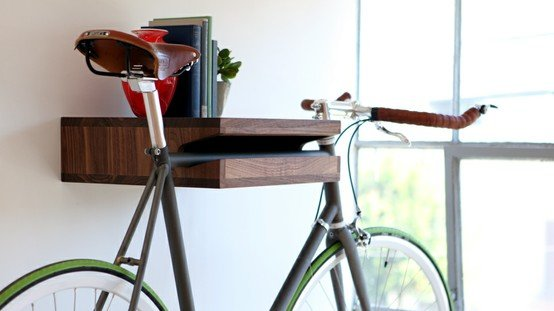 unique-bike-storage-ideas-with-small-modern-table-furniture