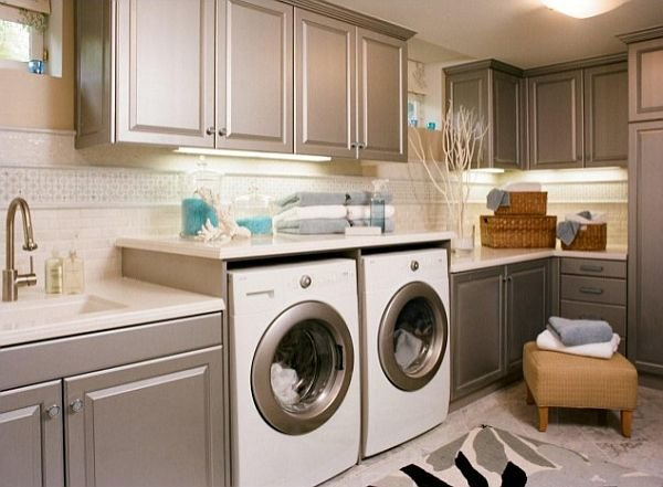 matte-grey-cabinets-in-laundry-room