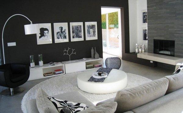 black-white-living-room-design-black-wall-color-white-coffee-table-gray-sofa