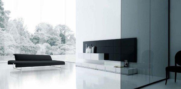minimalist-living-room-design-black-and-white-interior-black-sofa-white-flooring