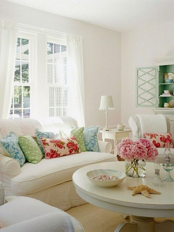 shabby-chic-living-room-furniture-white-sofa-set-decorative-pillows-floral-patterns-pastel-colors