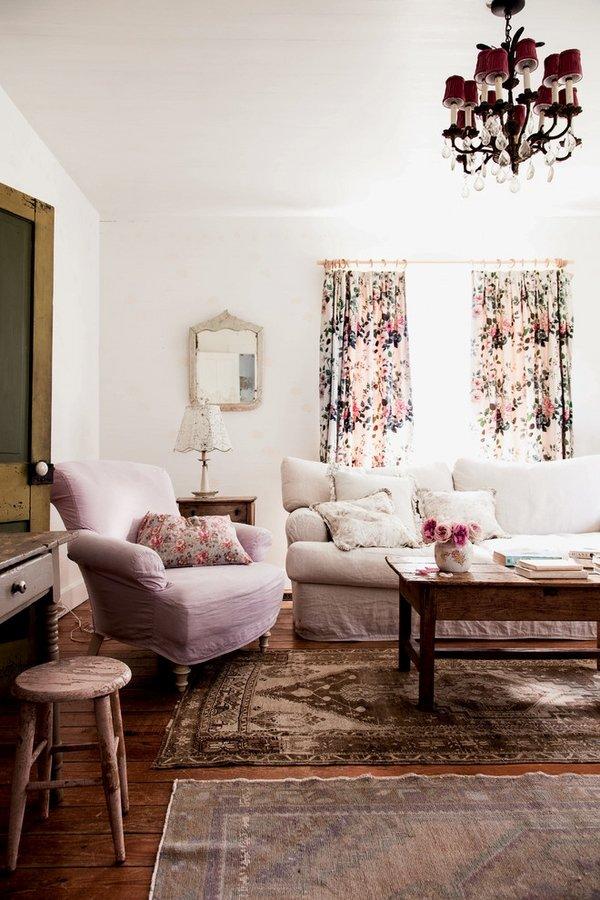 shabby-chic-style-living-room-decoration-ideas-floral-curtains-sofa-pillows-armchair-wall-mirror