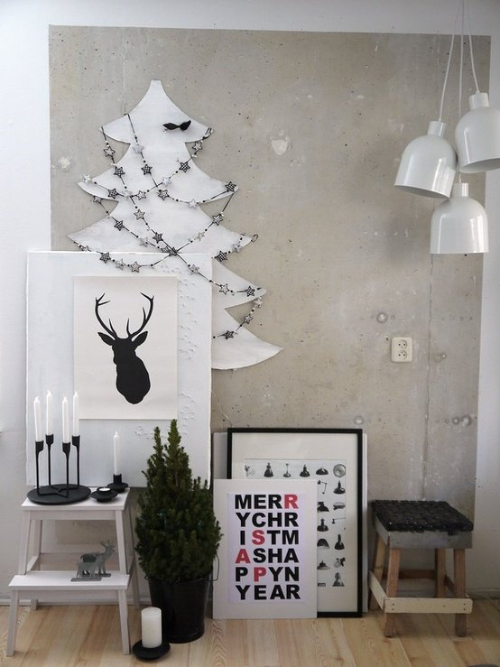 Black-and-white-christmas-decorations