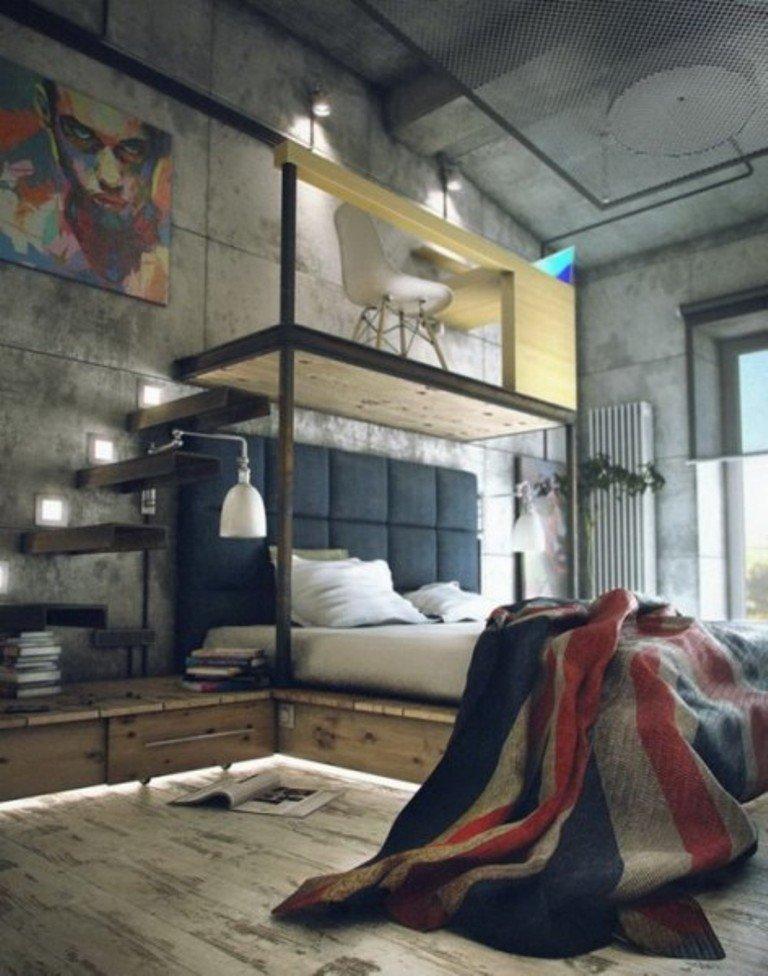 Industrial-Loft-Bedroom