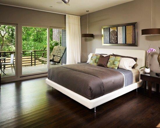 small-modern-zen-house-design-Contemporary-Bedroom-Darkwood-Wooden-Floor-Ashley-Home-Small-Balcony
